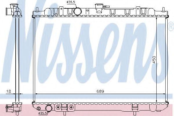 Радіатор охолоджування Nissens 68704