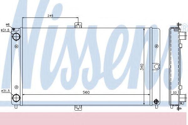 Радиатор, охлаждение двигателя Nissens - 623552