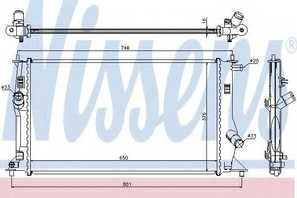 Радиатор, охлаждение двигателя NISSENS арт. 68503