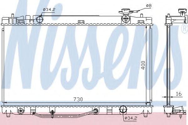 Радиатор, охлаждение двигателя Nissens - 646808