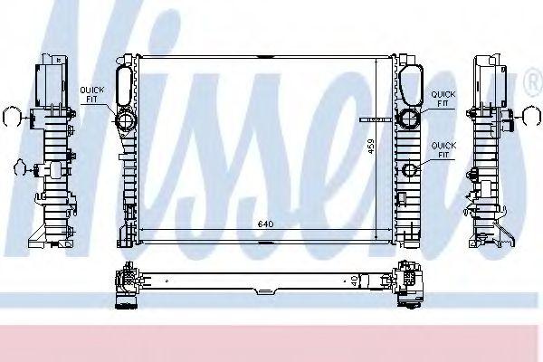 Радіатор охолоджування Nissens 67105