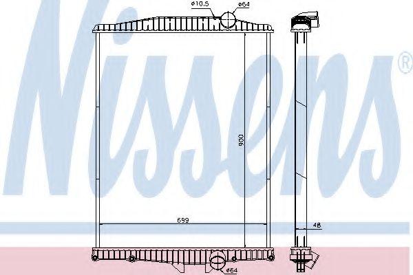 Радіатор охолоджування Nissens 654630