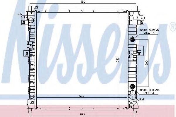 Радиатор, охлаждение двигателя NISSENS арт. 64326