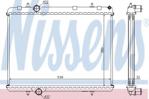 Радіатор охолоджування Nissens 636006