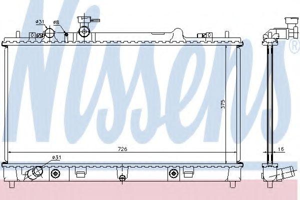 Радіатор охолоджування Nissens 68508