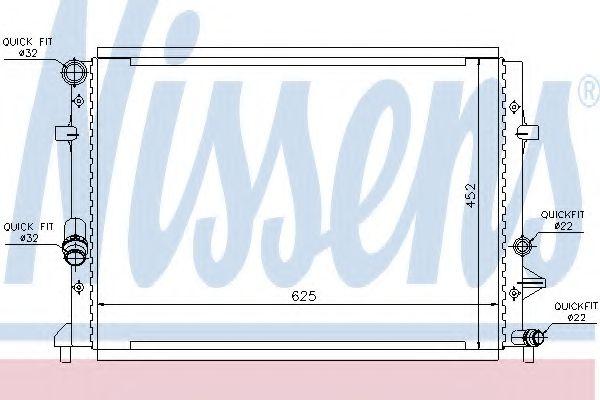 Радіатор охолоджування Nissens 65295