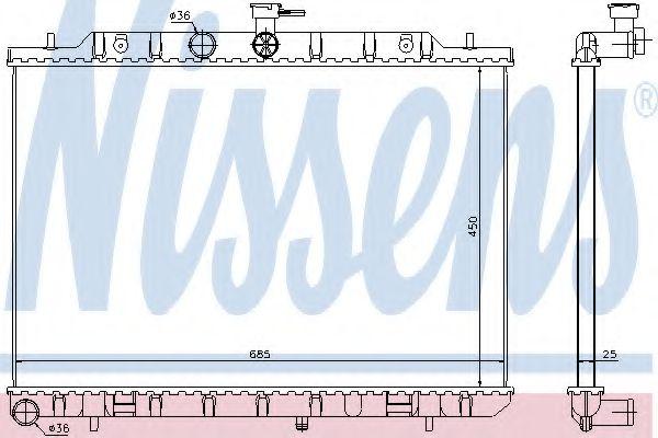 Радиатор, охлаждение двигателя NISSENS арт. 67366