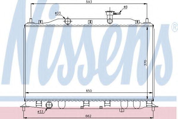 Радиатор, охлаждение двигателя NISSENS арт. 67509