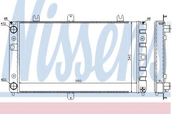 Радиатор, охлаждение двигателя Nissens - 623553