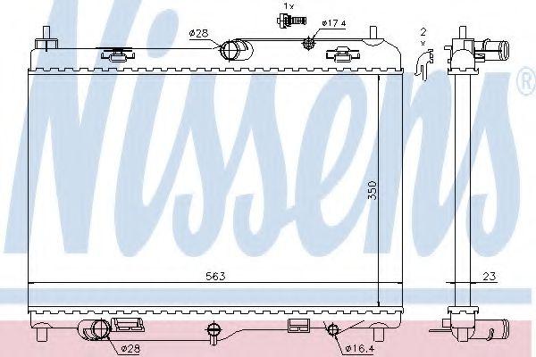 Радіатор охолоджування Nissens 69234