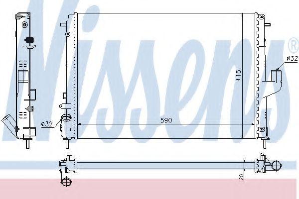 Радиатор, охлаждение двигателя Nissens - 637613