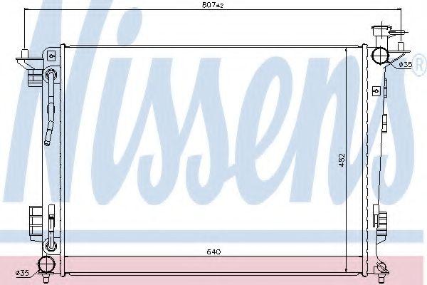 Радиатор, охлаждение двигателя Nissens - 67514