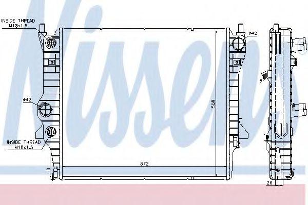 Радиатор, охлаждение двигателя NISSENS арт. 66708