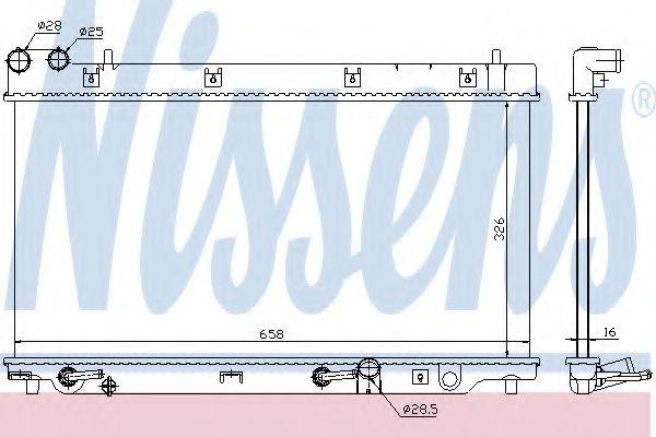 Радіатор охолоджування Nissens 68098