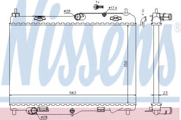 Радіатор охолоджування Nissens 69233
