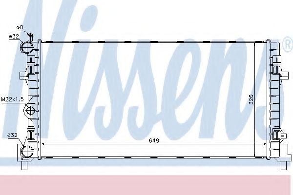 Радиатор, охлаждение двигателя Nissens - 640012