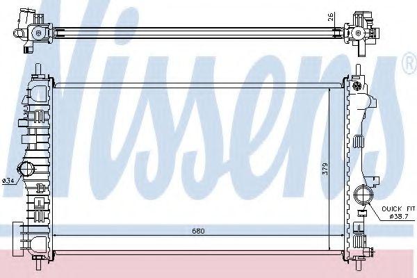 Радіатор охолоджування Nissens 630716