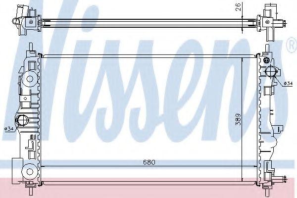 Радиатор, охлаждение двигателя NISSENS арт. 61676