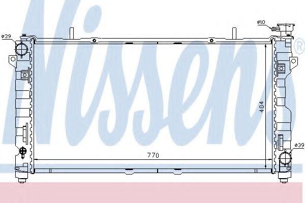 Радіатор охолоджування Nissens 61025