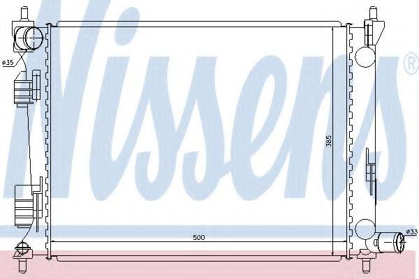 Радіатор охолоджування Nissens 66756