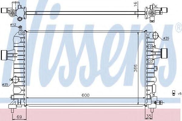 Радіатор охолоджування Nissens 630744