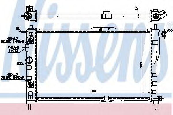 Радиатор, охлаждение двигателя Nissens - 616521