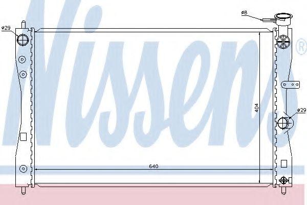 Радіатор охолоджування Nissens 68183
