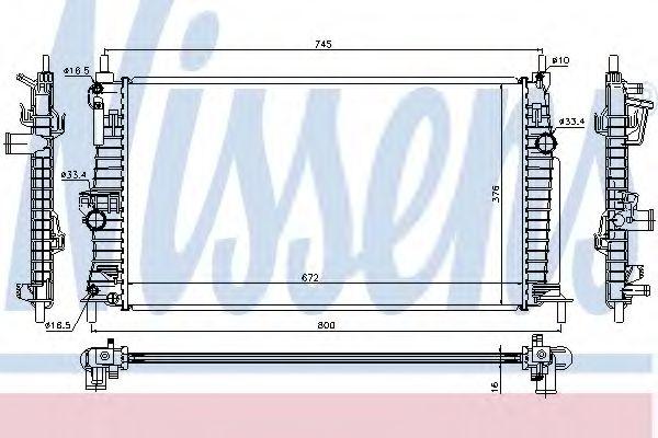 Радиатор, охлаждение двигателя Nissens - 68522