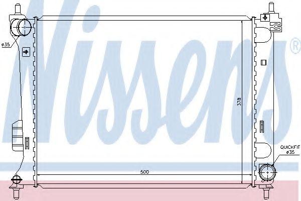 Радиатор, охлаждение двигателя Nissens - 67609
