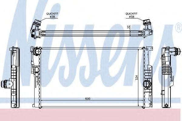 Радіатор охолоджування Nissens 60816