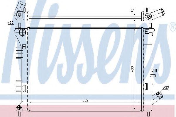 Радиатор, охлаждение двигателя NISSENS арт. 67555