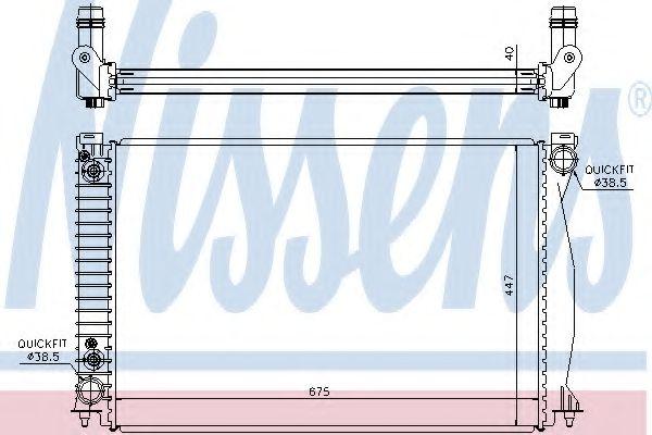 Радіатор охолоджування Nissens 60328