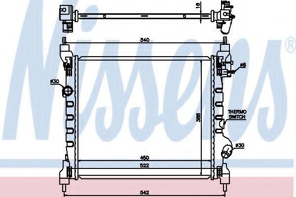 Радиатор, охлаждение двигателя NISSENS арт. 61689