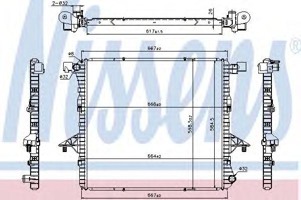 Радиатор, охлаждение двигателя NISSENS арт. 65298
