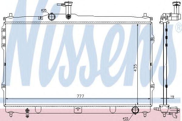 Радиатор, охлаждение двигателя NISSENS арт. 67095