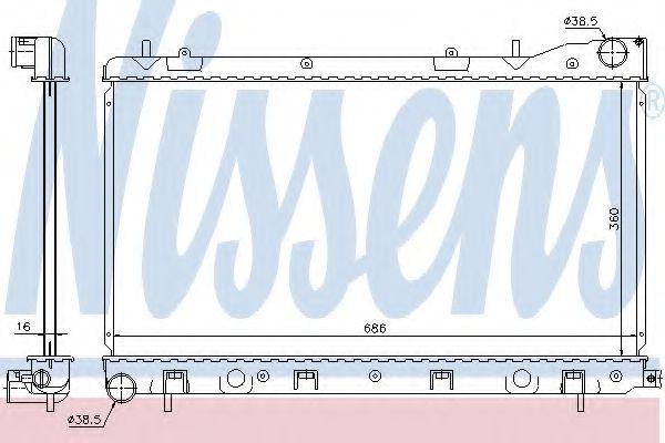Радіатор охолоджування Nissens 67726