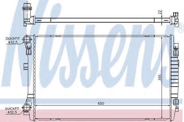 Радіатор охолоджування Nissens 65303