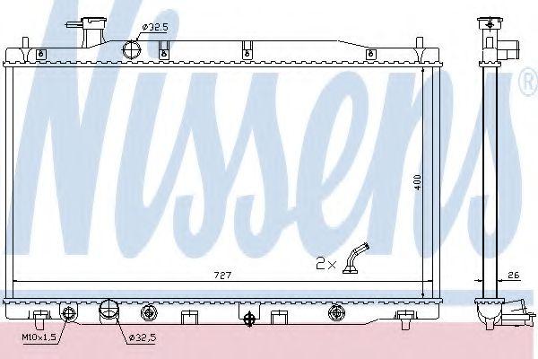 Радіатор охолоджування Nissens 681372