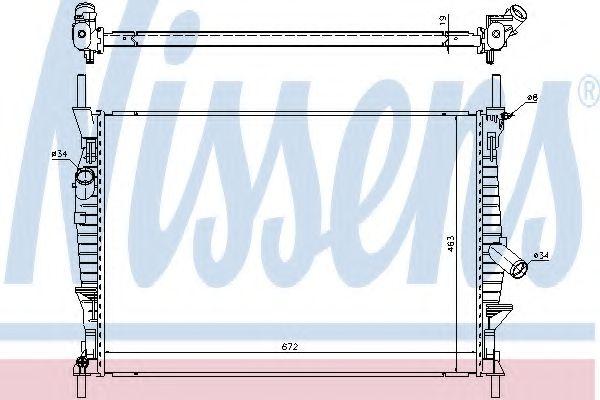 Радіатор охолоджування Nissens 69240