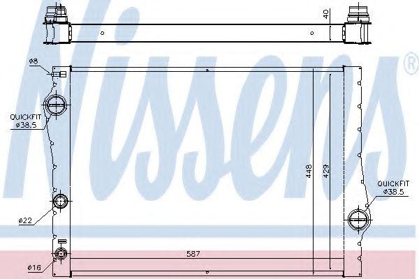 Радіатор охолоджування Nissens 60823