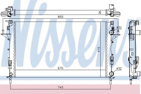 Радиатор, охлаждение двигателя Nissens - 63816