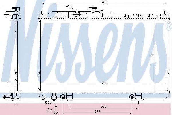 Радиатор, охлаждение двигателя NISSENS арт. 68736