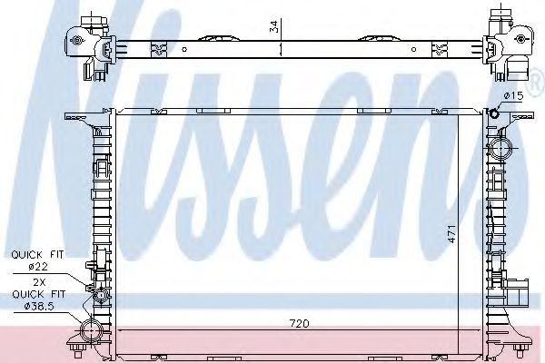 Радиатор, охлаждение двигателя NISSENS арт. 60326