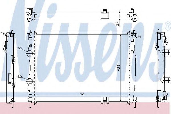 Радіатор охолоджування Nissens 67367