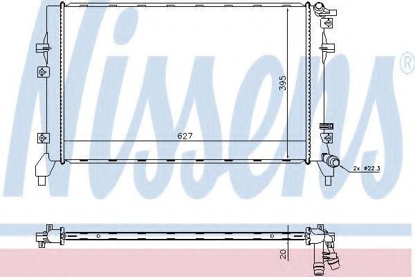 Радіатор охолоджування Nissens 65315