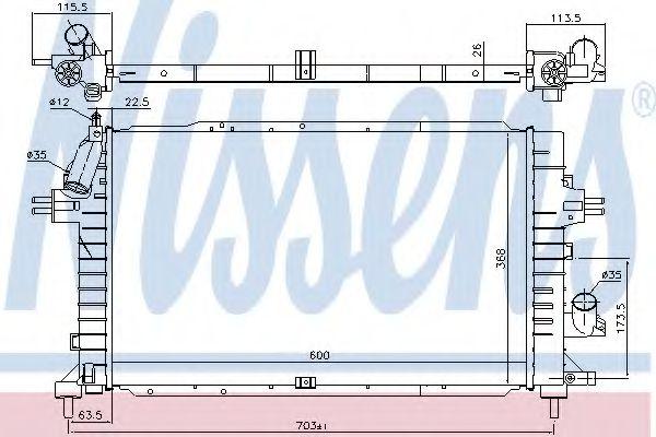 Радіатор охолоджування Nissens 630752