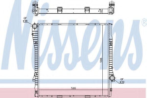 Радіатор охолоджування Nissens 60819
