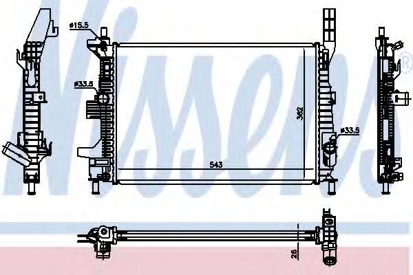Радіатор охолоджування Nissens 66860