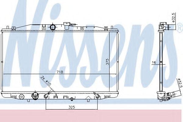 Радіатор охолоджування Nissens 68152