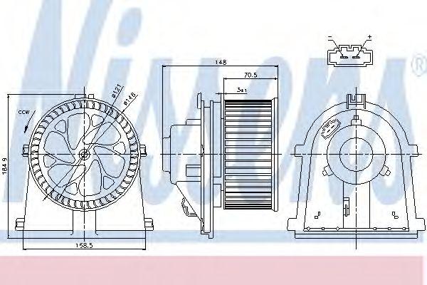 Вентилятор салона NISSENS арт. 87022